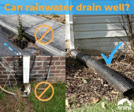 Can rain water freely drain