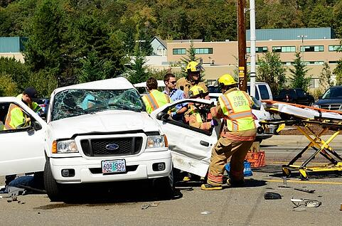 Car Crash with Emergency Responders