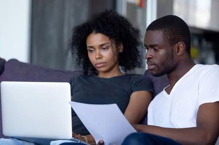 Couple reading online