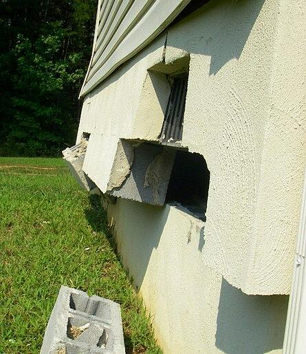 Earthquake damage Louisa VA