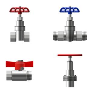Four types of plumbing valves