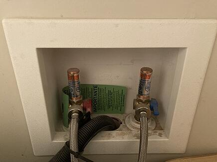 appliance shutoff valves