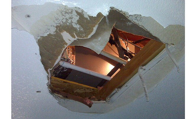 ceiling damage
