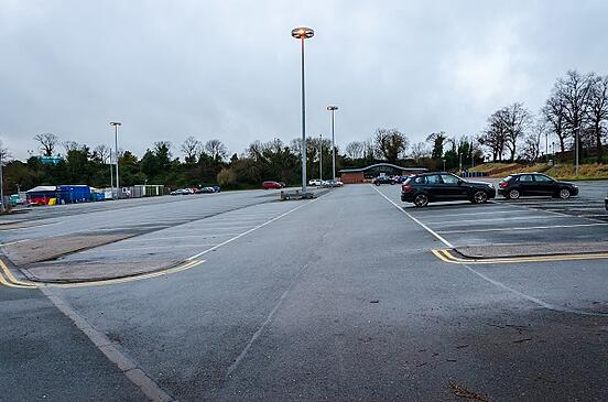 desolate parking lot